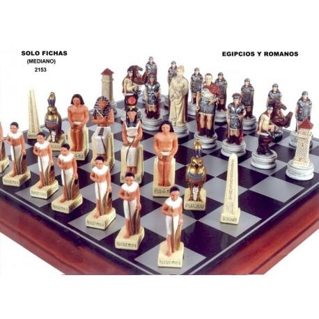 Figuras de ajedrez Egipcios-Romanos