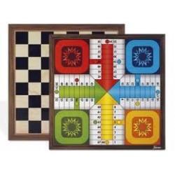 Tablero de ajedrez- parchís 4 jugadores