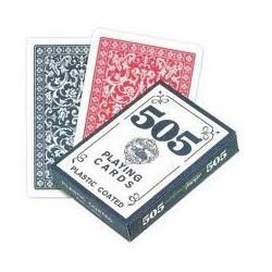 Cartas poker 505 Biseladas dorso azul