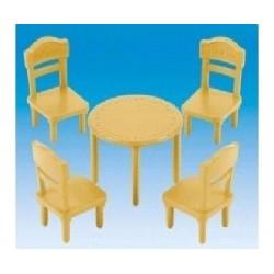 Sylvanian 1615 Set de 4 sillas y 1 mesa