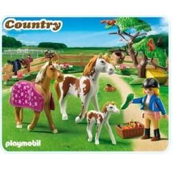 Playmobil 5227 Cuidadora con caballos