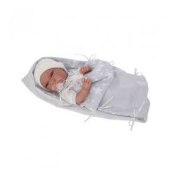 Muñeca Recien nacida con toquilla