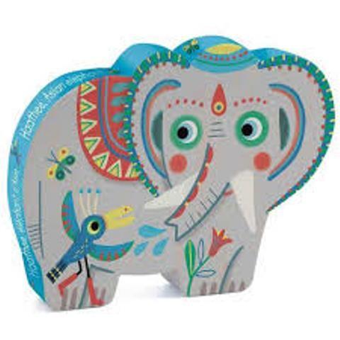 Puzzle silueta  Haathe elefante
